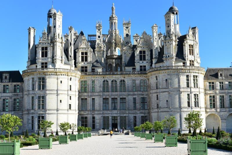 Château de Chambord - França imagens de stock
