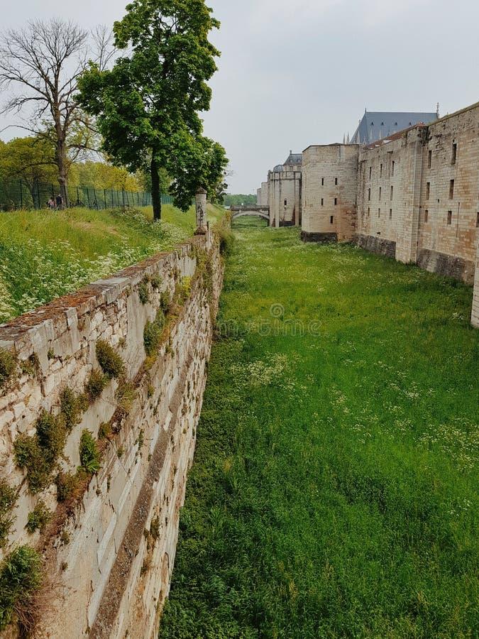 château de vincennes,巴黎,法国的庭院 库存图片