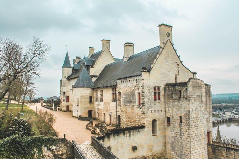 Châteaux de Chinon, Loire Valley, châteauxde-la Loire royaltyfria foton