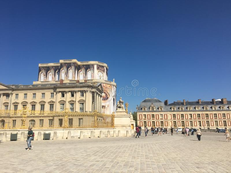 château de凡尔赛另一个角度  库存照片