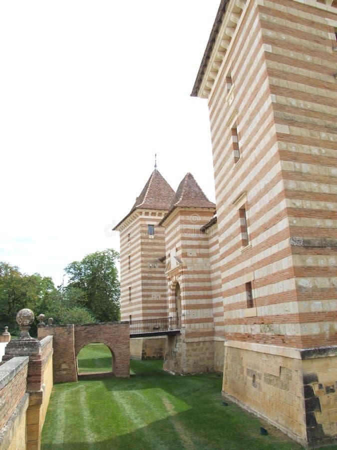 Château De laréole, Francja - obraz royalty free