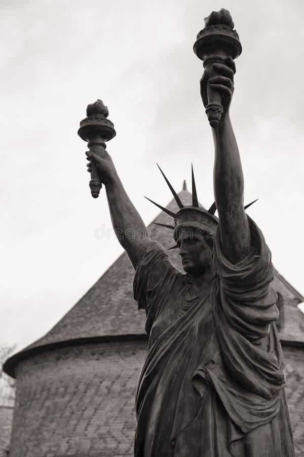 Château de Vascoeuil Victoire Statue de la libertad fotos de archivo