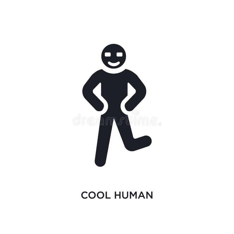 chłodno istoty ludzkiej odosobniona ikona prosta element ilustracja od uczucia pojęcia ikon chłodno ludzki editable logo znaka sy ilustracji