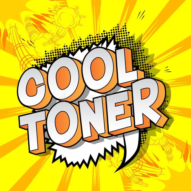Chłodno toner - komiksu stylu słowa ilustracja wektor