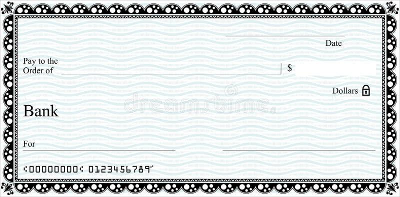 chèque illustration de vecteur