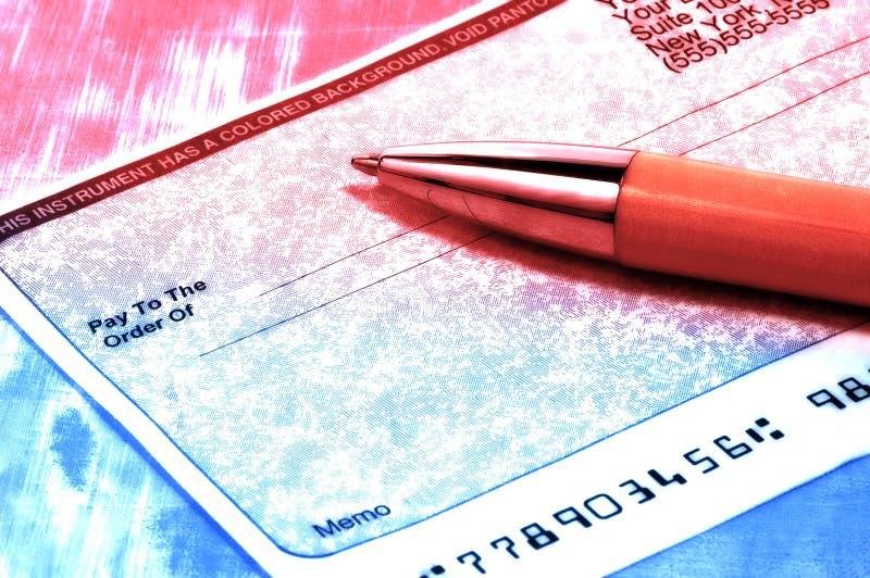 Chèque Images stock
