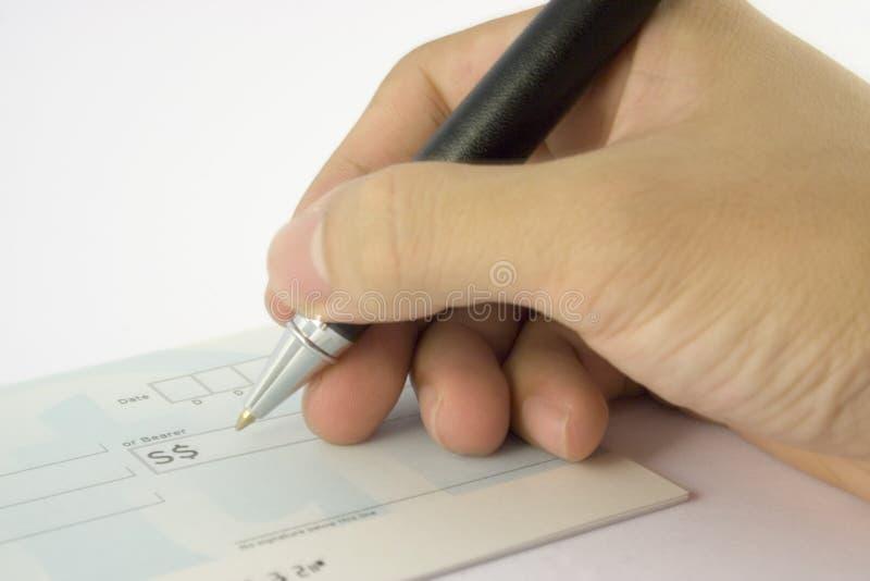 Chèque photographie stock libre de droits