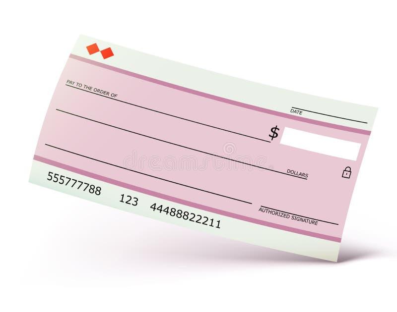 Chèque bancaire illustration stock