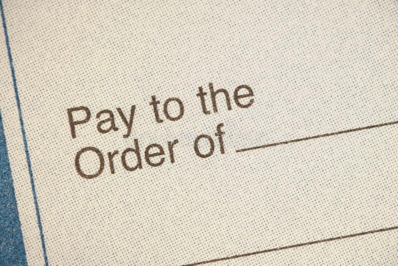 Chèque bancaire images stock