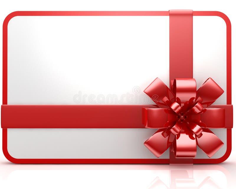 Chèque-cadeau illustration libre de droits
