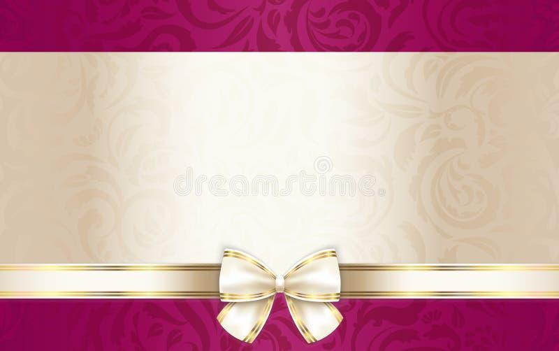 Chèque-cadeaux de luxe avec le modèle et le Cr floraux illustration de vecteur