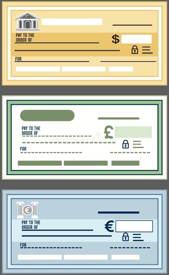 Chèque de banque illustration libre de droits