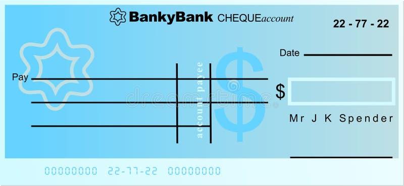 Chèque du dollar illustration de vecteur