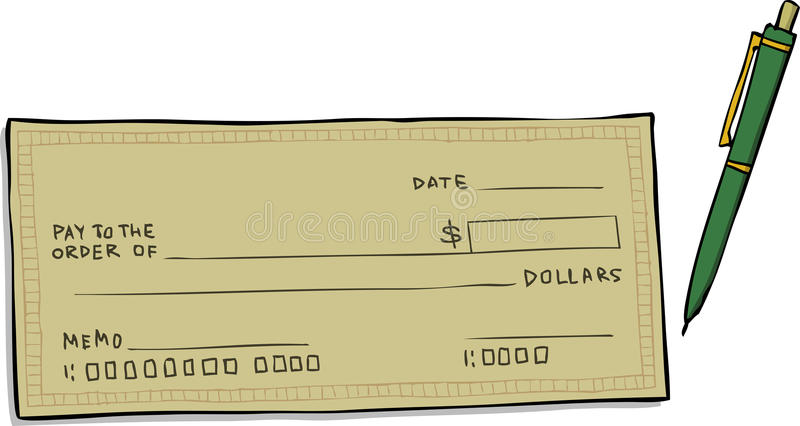 Chèque en blanc illustration libre de droits