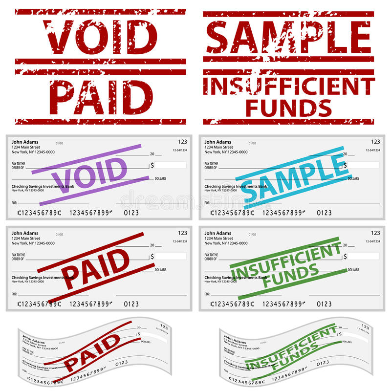 Chèques à ordre estampés