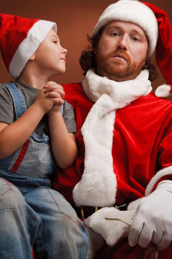 Chère Santa ! Je veux ..... photo stock