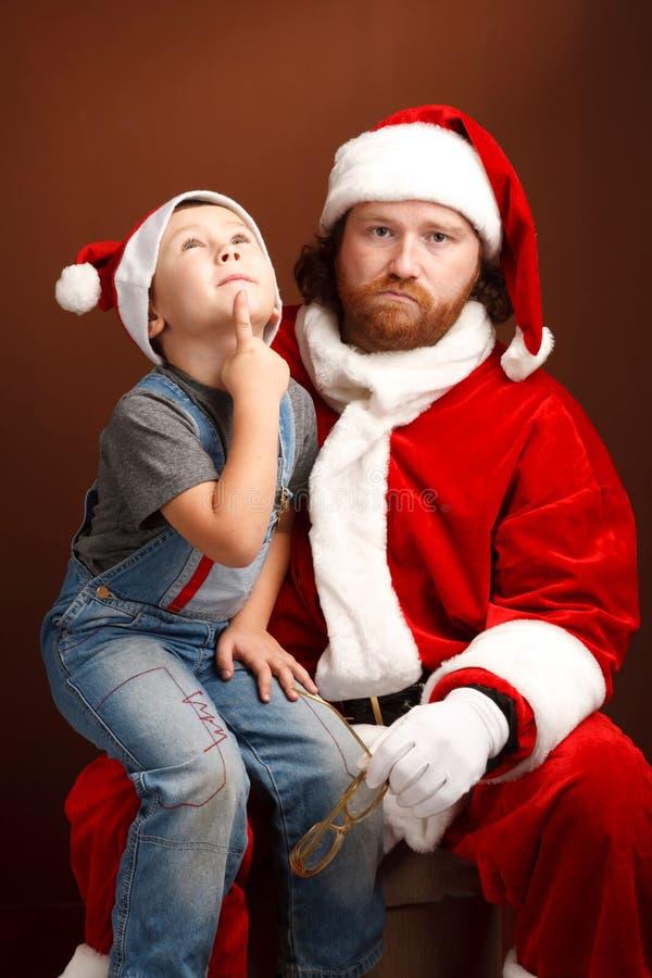 Chère Santa ..... que je veux. image libre de droits