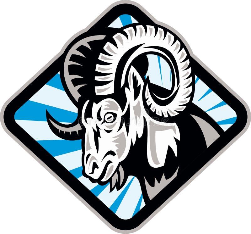 Chèvre de moutons de mémoire vive de mouflon d'Amérique illustration libre de droits