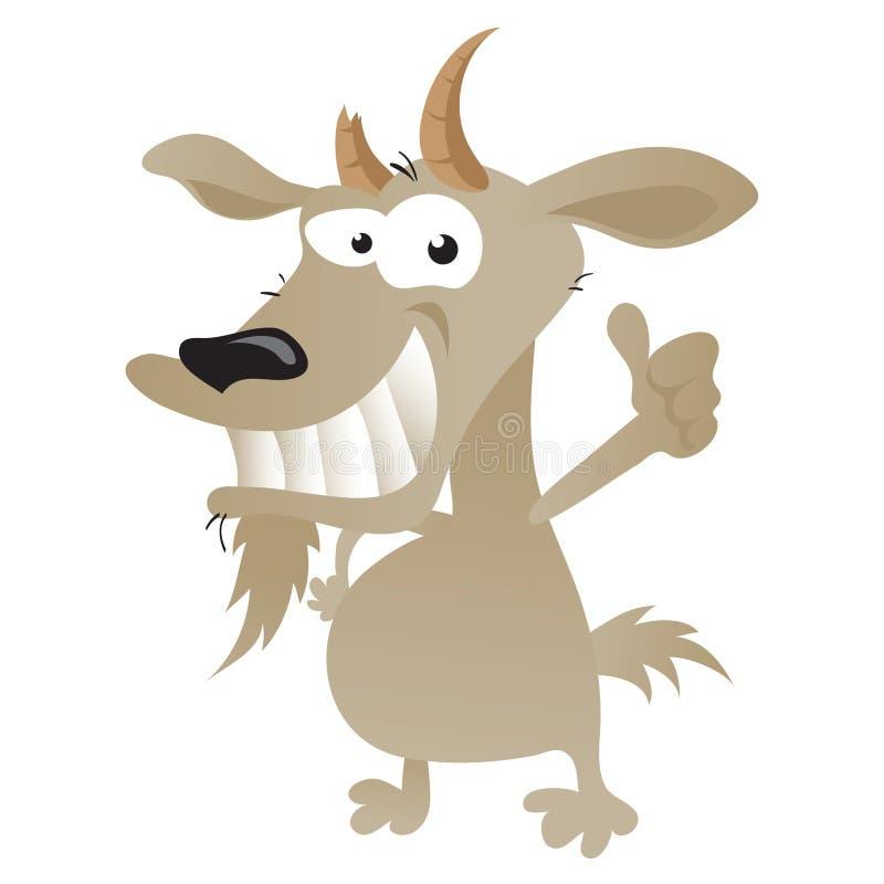 Chèvre farfelue illustration libre de droits