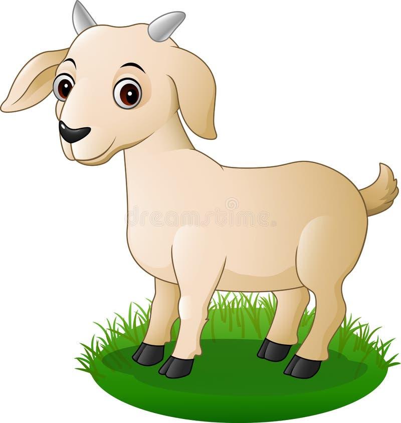 Chèvre mignonne de bande dessinée illustration de vecteur