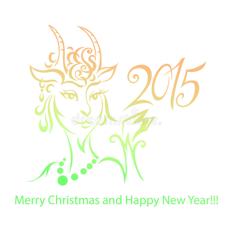 Chèvre - symbole 2015 - illustration photos stock