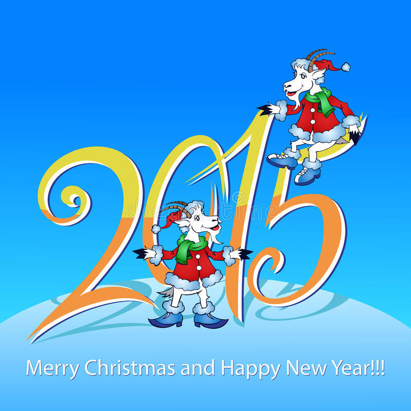 Chèvre - symbole 2015 - illustration image stock