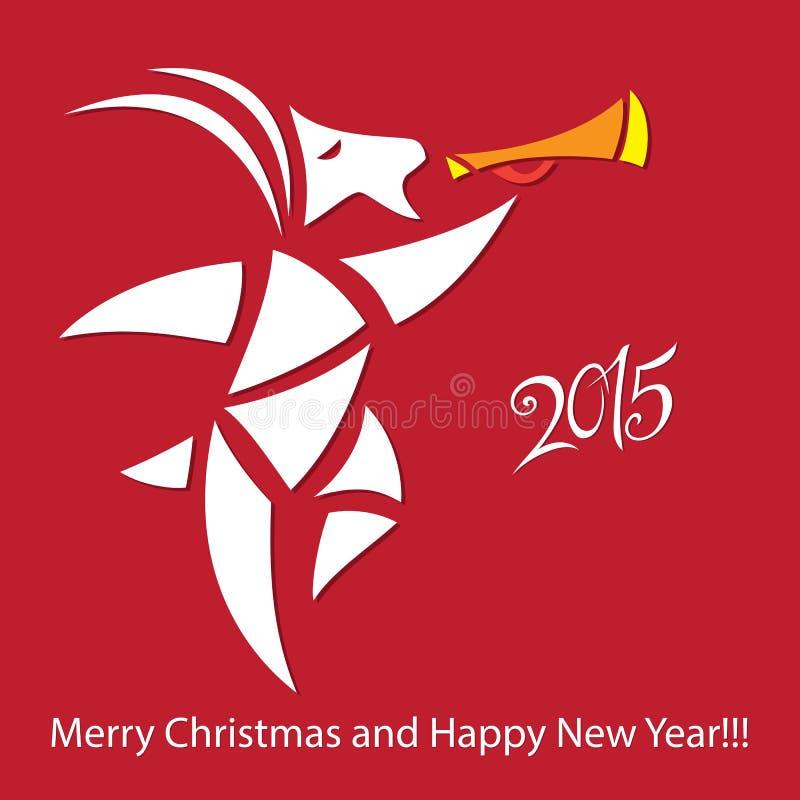 Chèvre - symbole 2015 - illustration images stock