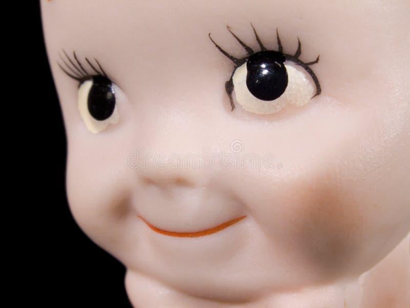 Chéri adorable - visage de poupée photographie stock