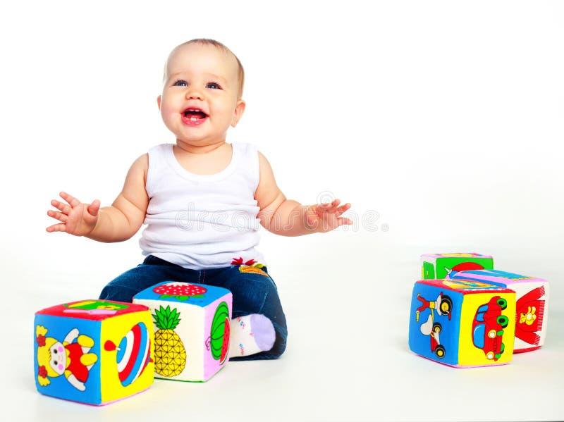 Chéri avec des jouets image libre de droits