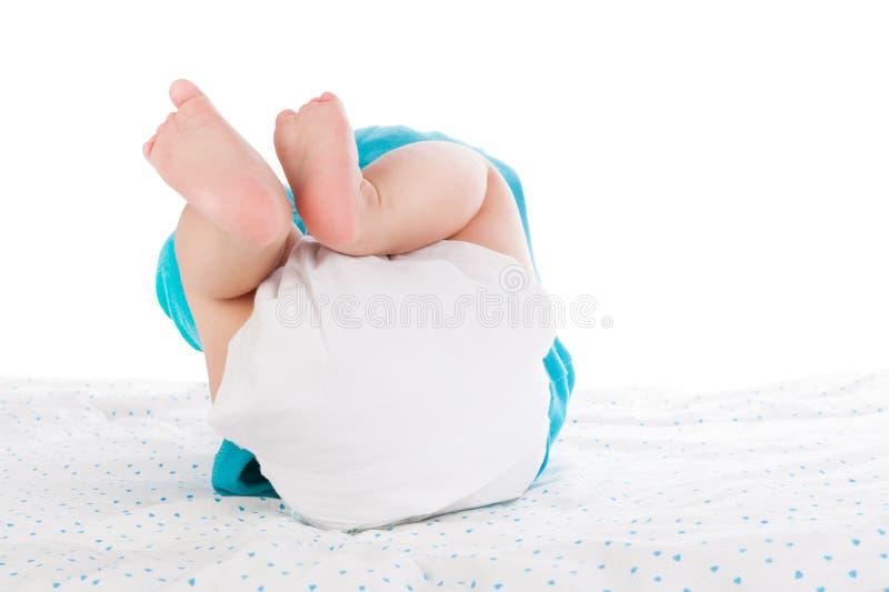 Chéri avec la couche-culotte photos libres de droits