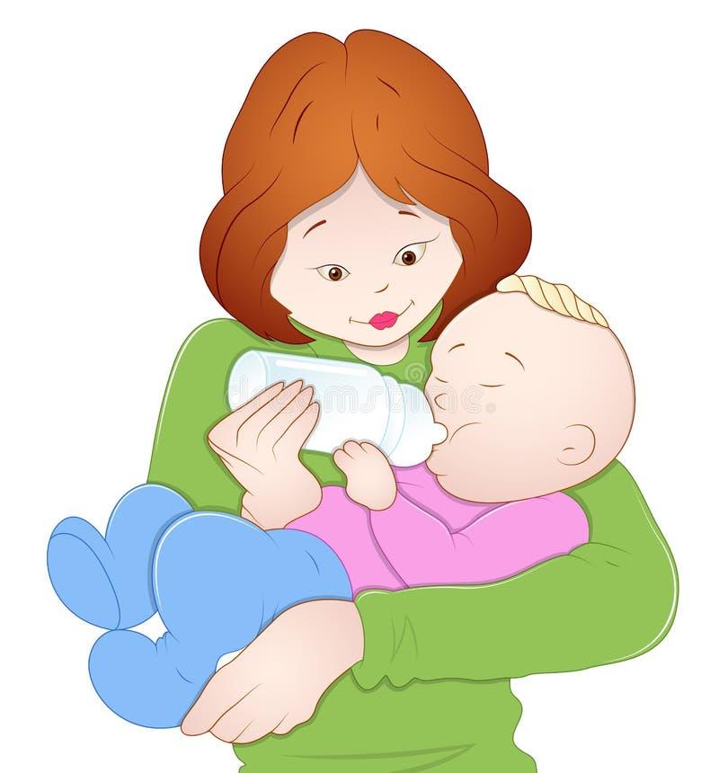 Chéri avec la mère illustration libre de droits