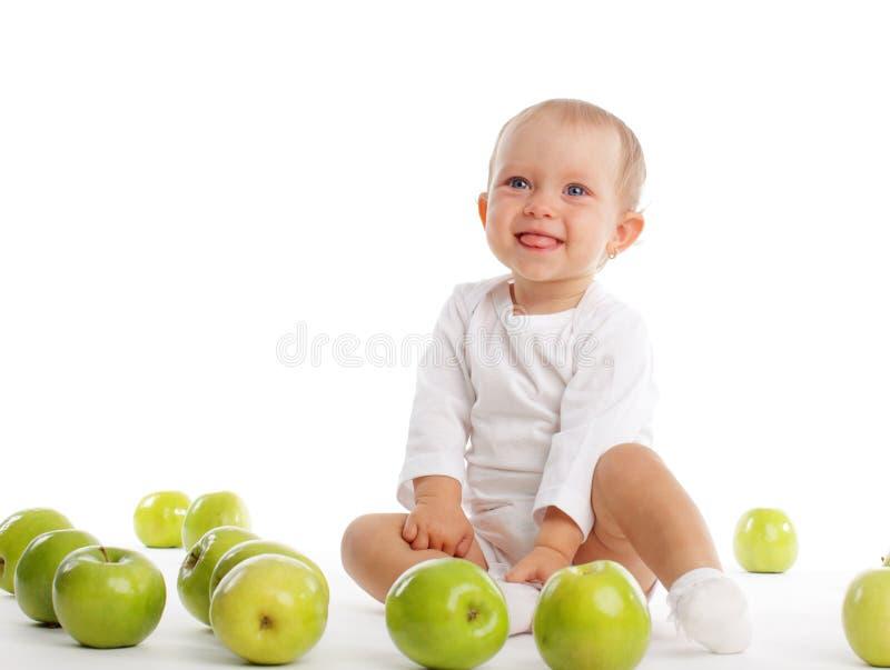 Chéri avec la pomme photos libres de droits