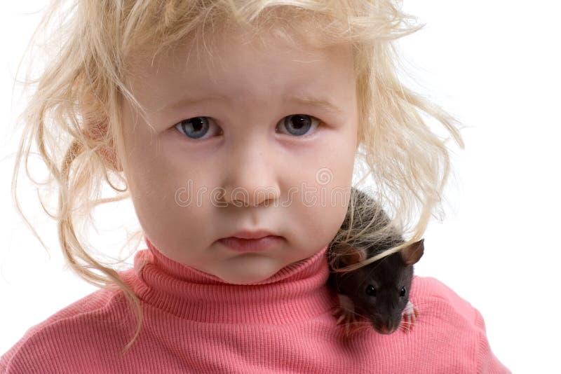 Chéri avec le rat image libre de droits