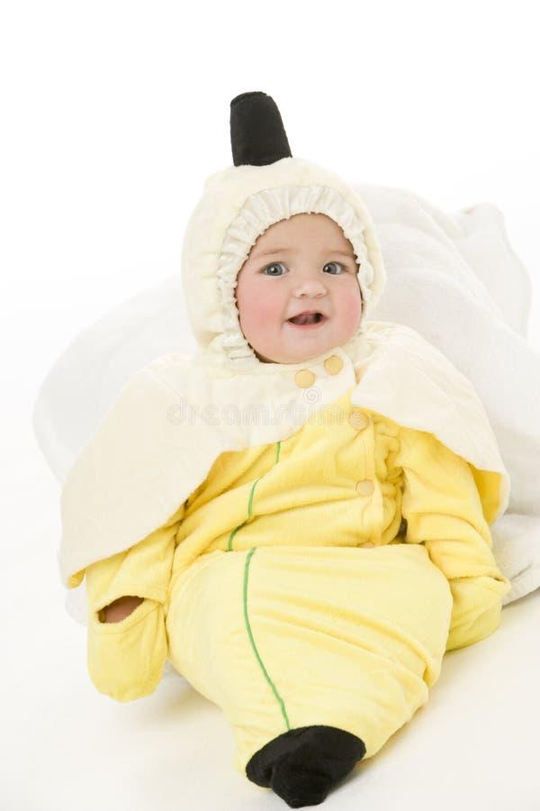 Chéri dans le costume de banane images stock