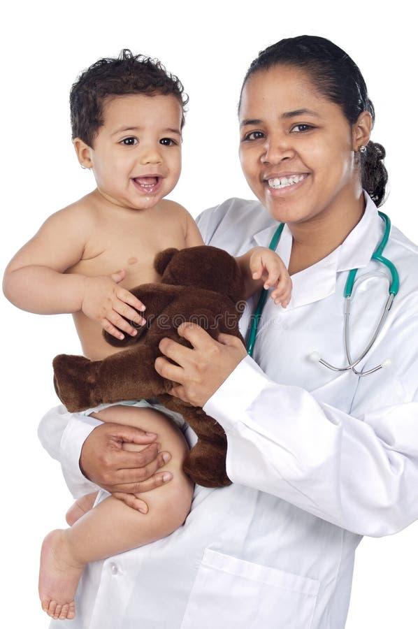 Chéri de fixation d'infirmière photographie stock