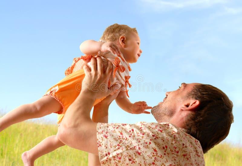 Chéri et père photographie stock libre de droits