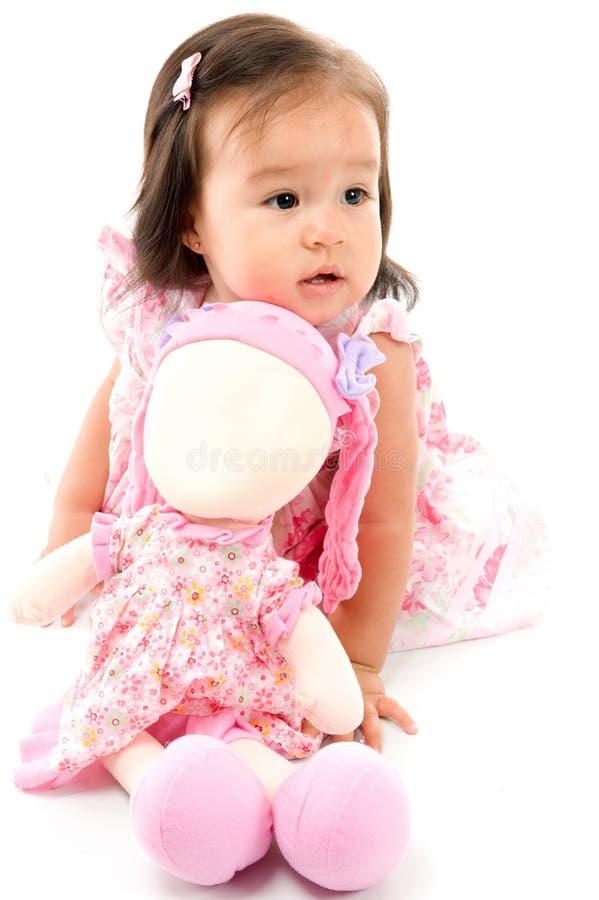 Chéri et poupée images stock