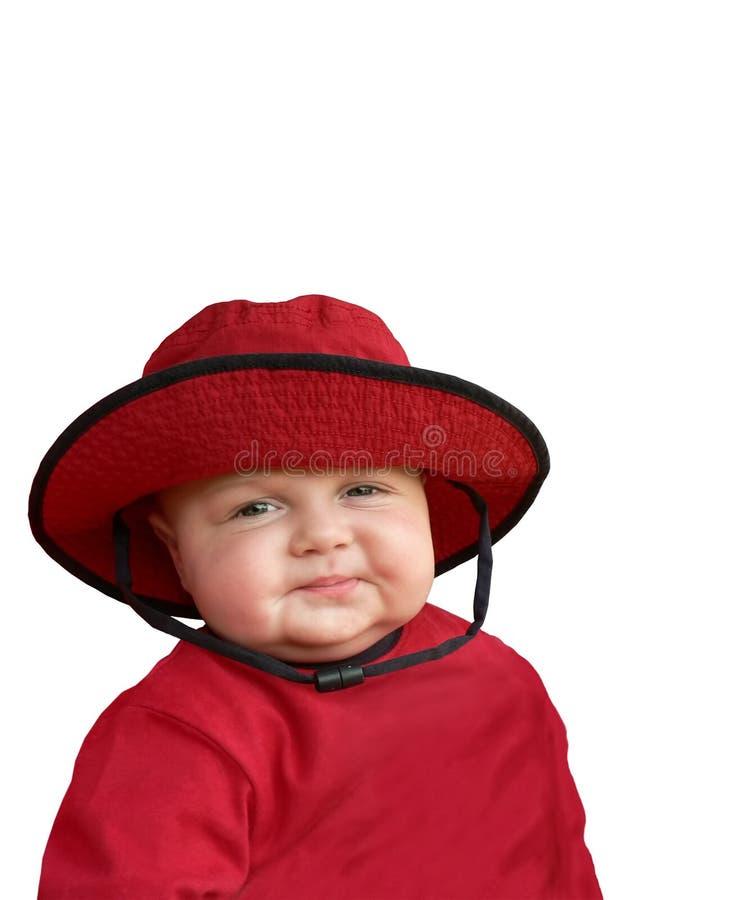 Chéri heureuse dans le chapeau rouge. photos libres de droits