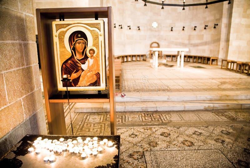 Chéri Jésus de fixation de Vierge Marie photos stock