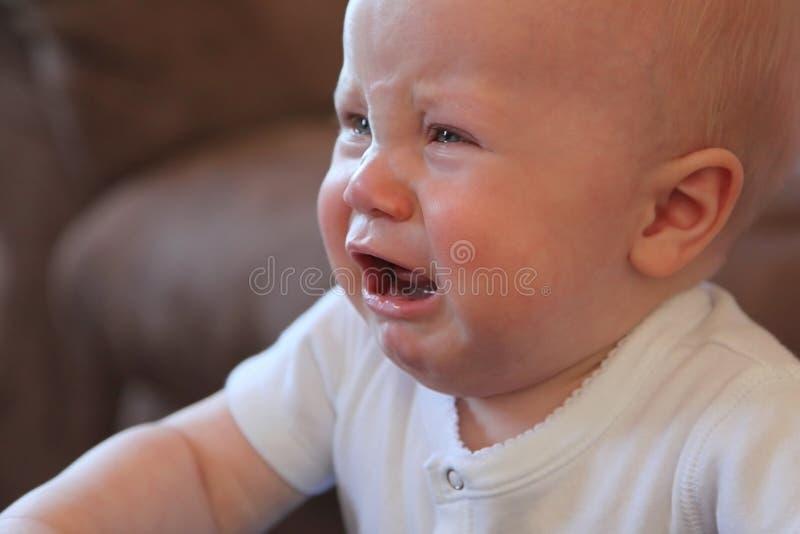 Chéri pleurante photo stock