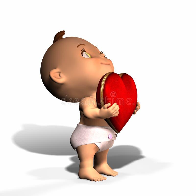 Chéri - soyez mon Valentine illustration stock