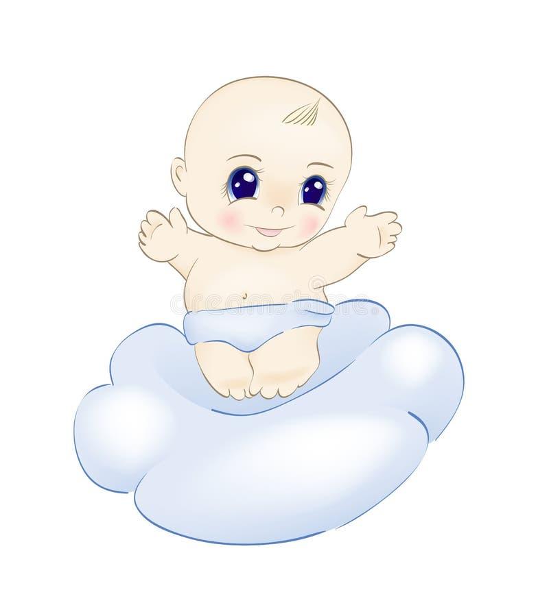 Chéri sur le nuage illustration libre de droits