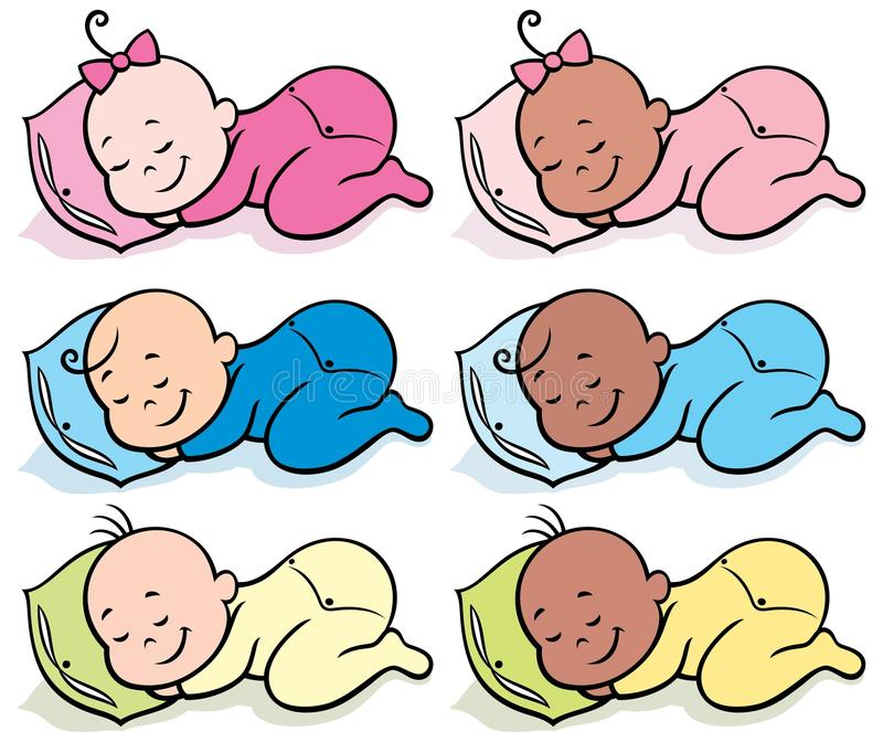 Chéris de sommeil illustration stock