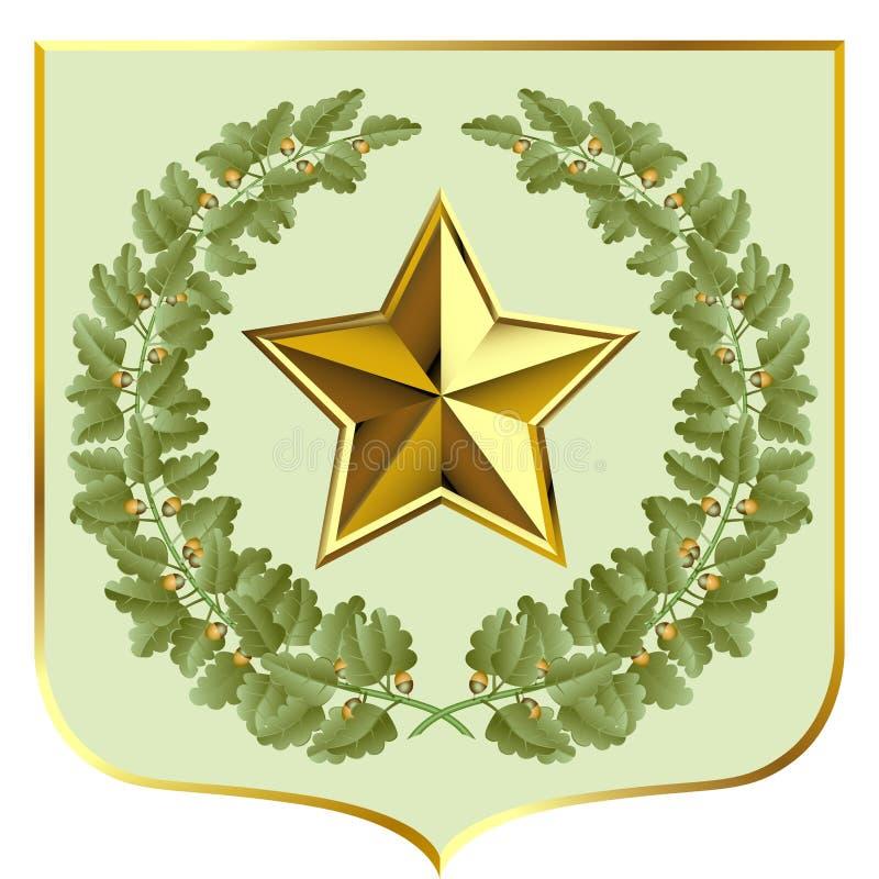 Chêne vert illustration de vecteur