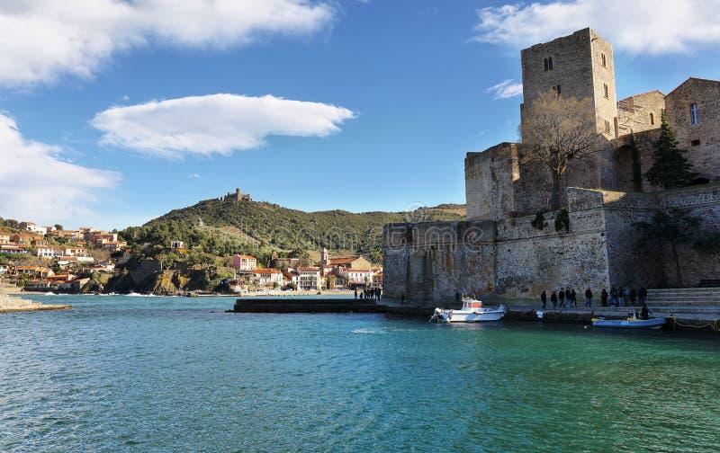 Chï ¿ ½ teau królewski Collioure, Francja obraz royalty free