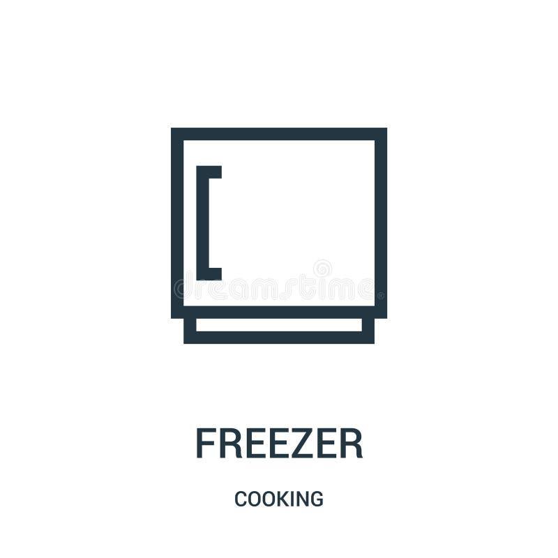 chłodni ikony wektor od kulinarnej kolekcji Cienka kreskowa chłodnia konturu ikony wektoru ilustracja Liniowy symbol ilustracja wektor