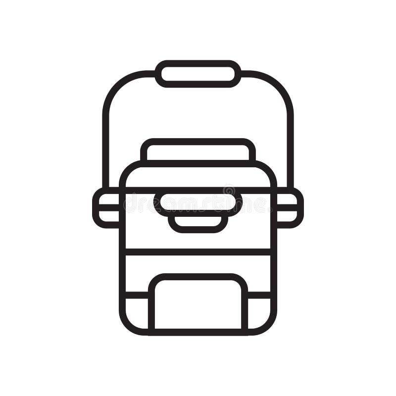 Chłodni ikony wektoru znak i symbol odizolowywający na białym tle, chłodnia logo pojęcie ilustracji