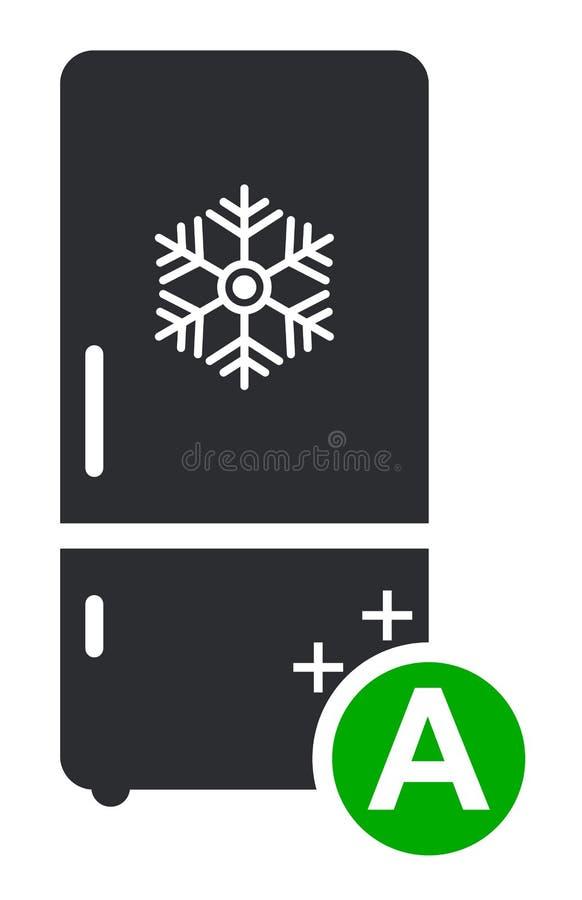 Chłodni ikony zimny płaski wektor Nowożytny mądrze znak, stały piktogram odizolowywający na białym tle ilustracji