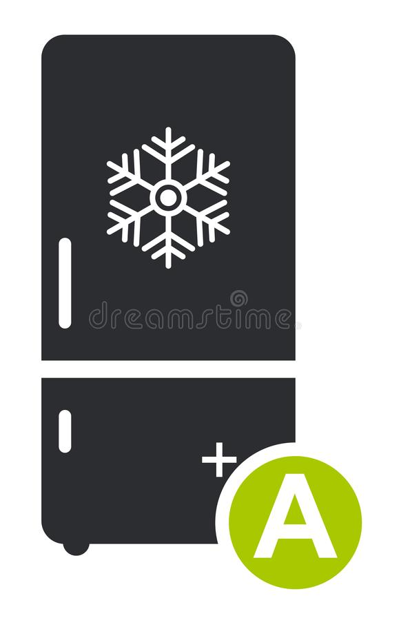 Chłodni ikony zimny płaski wektor Nowożytny mądrze znak, stały piktogram odizolowywający na białym tle royalty ilustracja