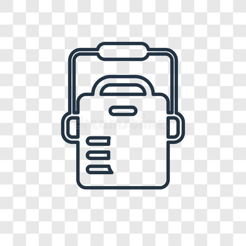 Chłodni pojęcia wektorowa liniowa ikona odizolowywająca na przejrzystym backg royalty ilustracja